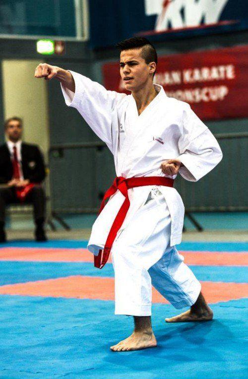 Alper Deger vom KC Höchst holte sich in der Kata Silber bei den 14 bis 17-Jährigen und Bronze bei den Kadetten (16/17 Jahre). Foto: ÖKB
