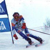 Paradiesvogel auf Skiern