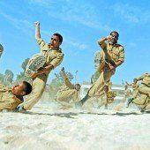 Schweißtreibende Militärübung im Jemen