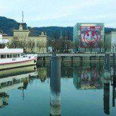 Das Kunsthaus verändert von Zeit zu Zeit sein Aussehen und damit auch die Ansicht von Bregenz
