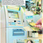Wie die Geldscheine aus dem Automaten kommen