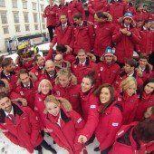 Verabschiedung der rot-weiß-roten Olympia-Hoffnungen