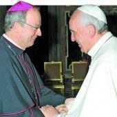 Unser Bischof Benno Elbs zu Besuch bei Papst Franziskus