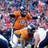 Peyton Manning kämpft mit den Denver Broncos um den Finaleinzug