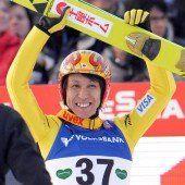 Noriaki Kasai ältester Sieger im Weltcup