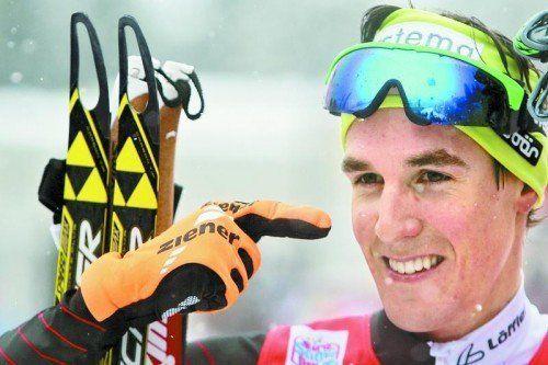 Johannes Dürr zeigte bei der Tour de Ski groß auf. Foto: gepa
