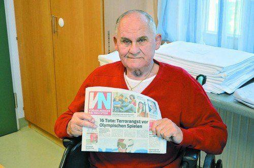 Karl Haider liest die VN immer von vorne bis hinten durch Foto: VN