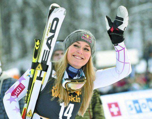 Lindsey Vonn entschied sich für eine baldige Knieoperation und gegen einen Start bei den Spielen in Sotschi. Foto: gepa