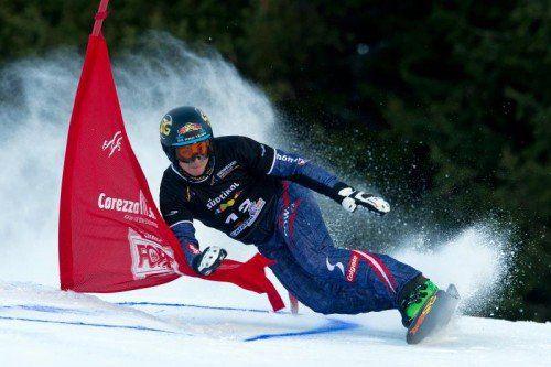 Lukas Mathies bewies bei den Rennen im Dezember sowohl im Parallel-Slalom (Bild) als auch im Riesentorlauf seine Topform. Foto: gepa