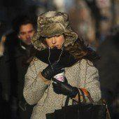 Gefühlte Temperaturen eisiger als am Südpol