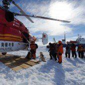 Heikle Rettungsaktion in der Antarktis geglückt