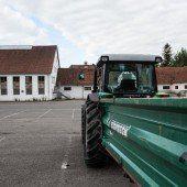 Bauern mit neuem Standort