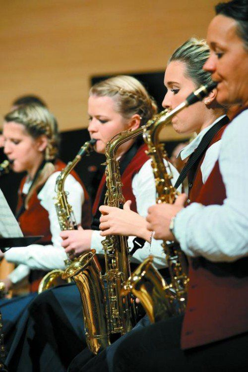 Nicht nur beim Musikverein Andelsbuch sind immer mehr Musikerinnen aktiv. Foto: Ludwig Berchtold