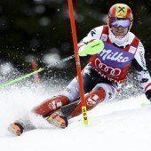 Kitz startet mit dem Slalom