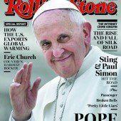 Der Papst lächelt vom Rolling Stone-Cover