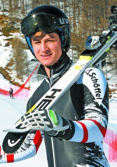 Platz zwei beim Riesentorlauf in Brigels: Johannes Strolz. Foto: gepa