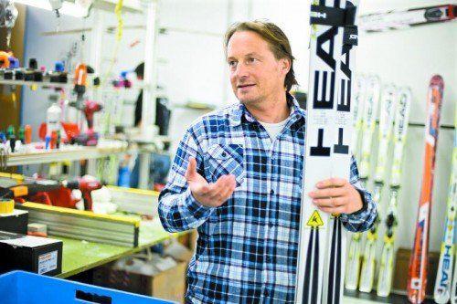 Rainer Salzgeber sucht nach Lösungen, wie das Head-Material nach Sotschi kommt. Foto: steurer