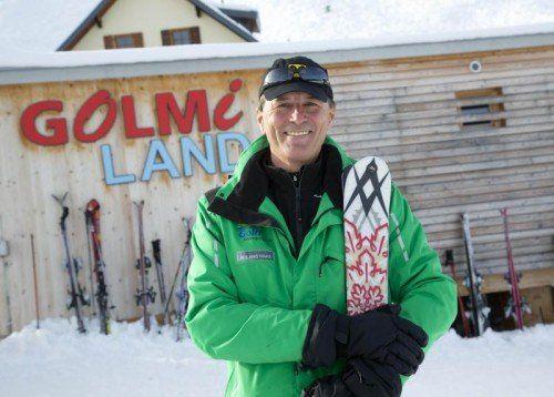 Roland Haas an seiner Wirkungsstätte – dem Golmiland in Vandans.  Foto: VN/Paulitsch