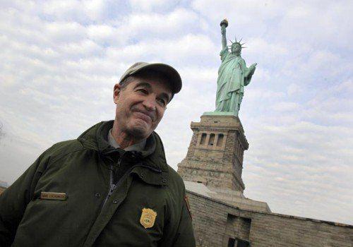 Rund vier Jahre hat David Luchsinger in unmittelbarer Nähe zur Freiheitsstatue gelebt.  FOTO: AP
