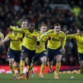 Elfmeterpleite: ManU gegen Sunderland out