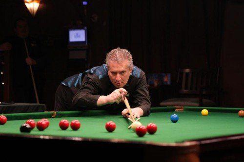 """Tony """"The Tornado"""" Drago ist einer von drei Profispielern bei der 14. Auflage des Dreikönigs-Open im Rankweiler Patricks. Foto: schwämmle"""