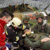 Heli-Absturz Einsatzkräfte proben Notfall /A5