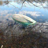 Kleinsegelboot gesprengt