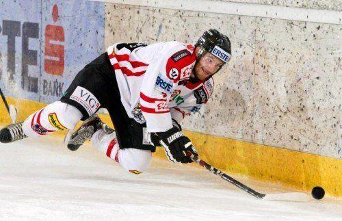 Der Dornbirner Stefan Ulmer ist einer von neun Spielern, die in Sotschi den Zapfenstreich überzogen. Foto: gepa