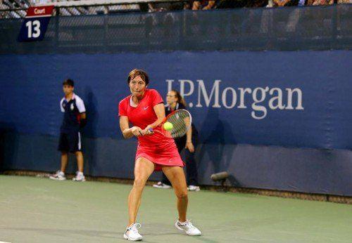 Yvonne Meusburger überzeugte trotz ihrer Niederlage. Foto: gepa