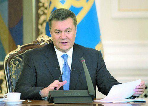 Als er noch Präsident war: Viktor Janukowitsch. Foto: RTS