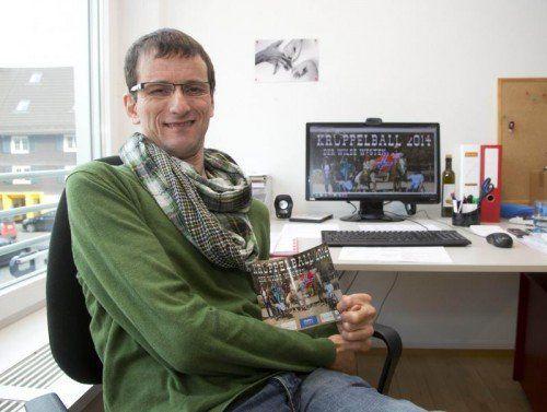 Andreas Guth hofft auf Solidarität und einen regen Ballbesuch am Freitag.  Foto: VN/Paulitsch