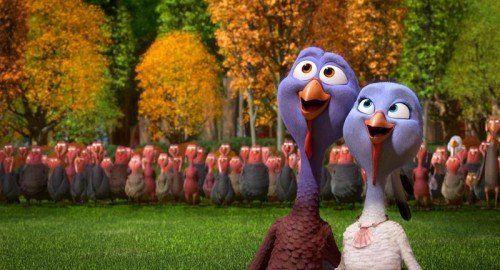"""Auch die Liebe kommt in """"Free Birds"""" nicht zu kurz. Constantin"""