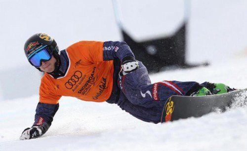 Bekommt nun seinen Heim-Weltcup am Hochjoch: Alpin-Boarder Lukas Mathies aus St. Gallenkirch. Foto: epa