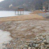 Ockergelbes Ufer für die neugestaltete Pipeline