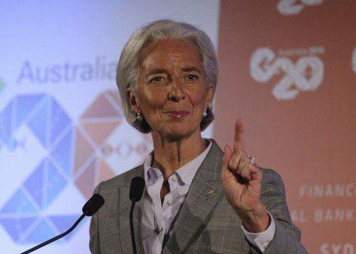 Christine Lagarde, Chefin des Internationalen Währungsfonds, hat mit ihren Kollegen neue Ziele definiert.