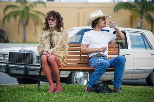 """""""Dallas Buyers Club"""" mit Jared Leto (l.) und Matthew McConaughey gilt als Favorit bei den Oscars.  Thimfilm"""
