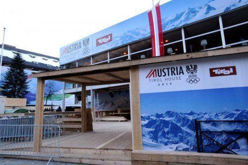 Das Austria Tirol Haus ist für die kommenden Wochen der Arbeitsmittelpunkt von Gerhard Stübe. Fotos: gepa/Spieß/3