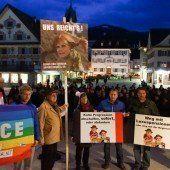 Protest auf Dornbirner Marktplatz