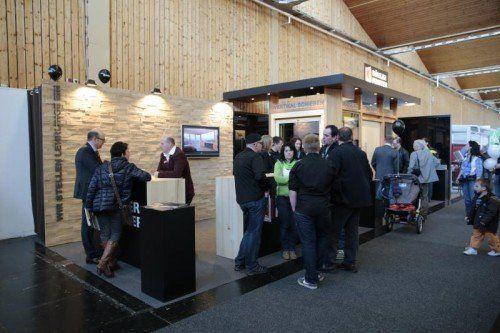 Die Aussteller freuten sich über viele Besucher und reges Interesse am Bauen.