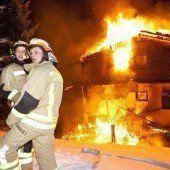 Latschau: Maiensäß ging in Flammen auf