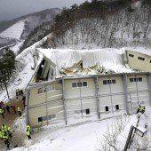 Halleneinsturz in Südkorea