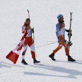 Winterspiele haben ihren frohesten Gänsemarsch