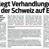 Die EU und die Schweiz