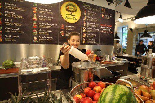 Was bei Rauch produziert wird (Im Bild eine Rauch Juice Bar) findet auch bei italienischen Fruchtsaftfans Anklang.  Foto: Rauch