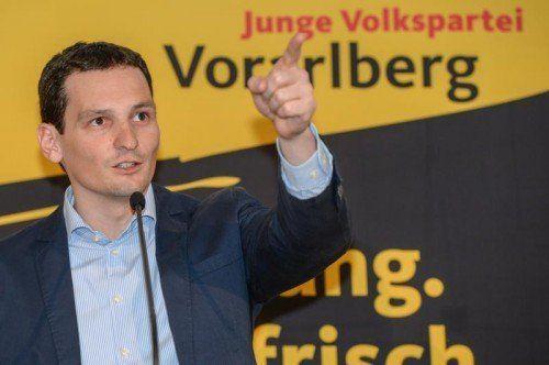 Julian Fessler bleibt JVP-Landesobmann. FOTO: VN/LERCH