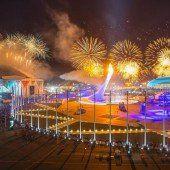 Olympisches Feuer brennt in Sotschi