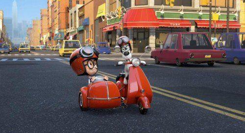 Mr. Peabody (r.) und Sherman begeben sich auf eine Rettungsaktion in die Vergangenheit.