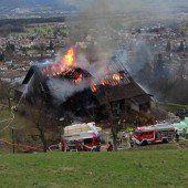 Feuertaufe für Kälblein bei Großbrand in Batschuns