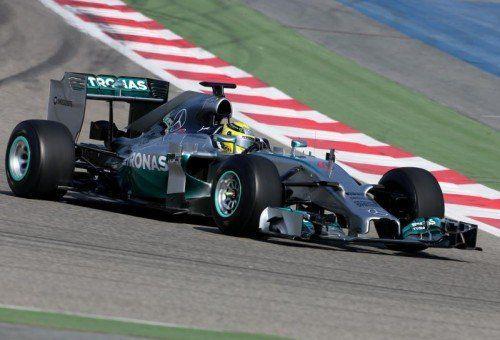 Nico Rosberg fuhr mit seinem Silberpfeil in Bahrain die schnellste Zeit aller Teams. Foto: gepa