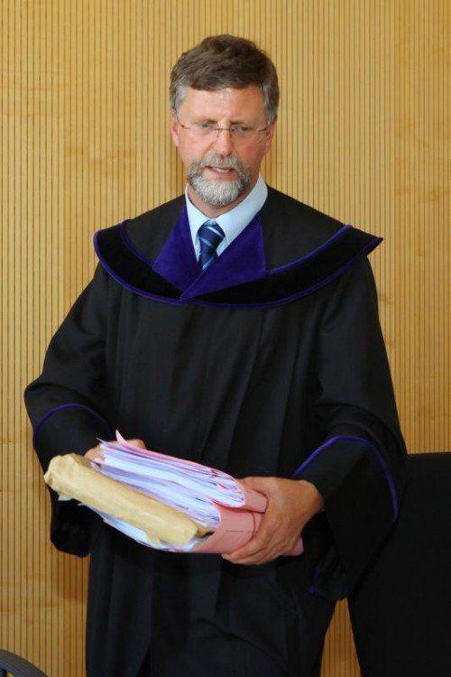 Bezirksgerichtsvorsteher Othmar Kraft zeigte sonderbaren Klienten an. VN/HB